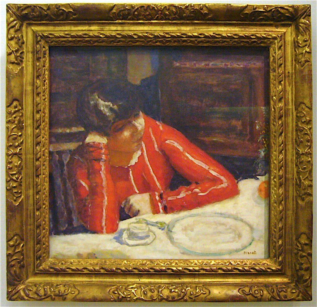 ピエール・ボナール「赤いブラウス」1925年、パリ