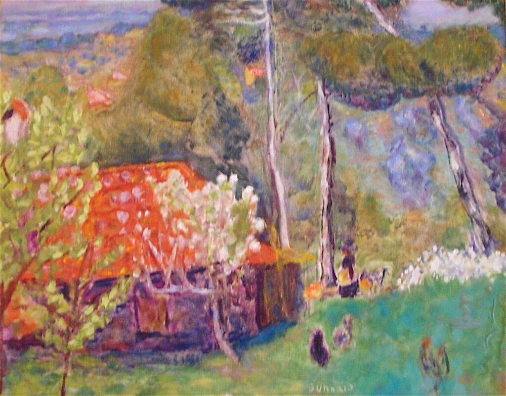 ピエール・ボナール「赤い屋根の農場」1923年頃、ラノンシアード美術館、サントロペ