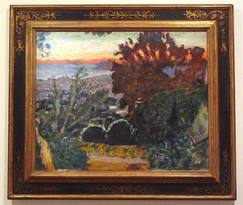 ピエール・ボナール「風景、夕日(ル・カネ)」1923年頃、ボナール美術館
