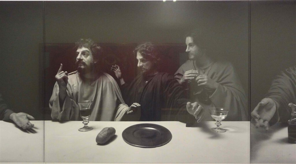 """杉本博司 Hiroshi Sugimoto """"The Last Supper"""" 1999, Black and white silver gelatin prints, detail2"""