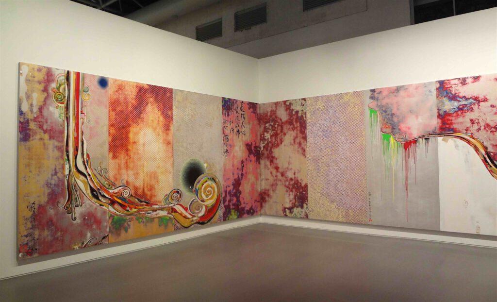 """村上隆 Takashi Murakami """"727-272 The Emergence of God At The Reversal of Fate"""" 2006-2009 (左側)"""