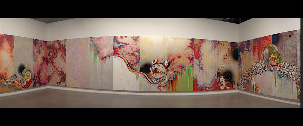 """村上隆 Takashi Murakami """"727-272 The Emergence of God At The Reversal of Fate"""" 2006-2009, Acrylic on canvas mounted on board"""