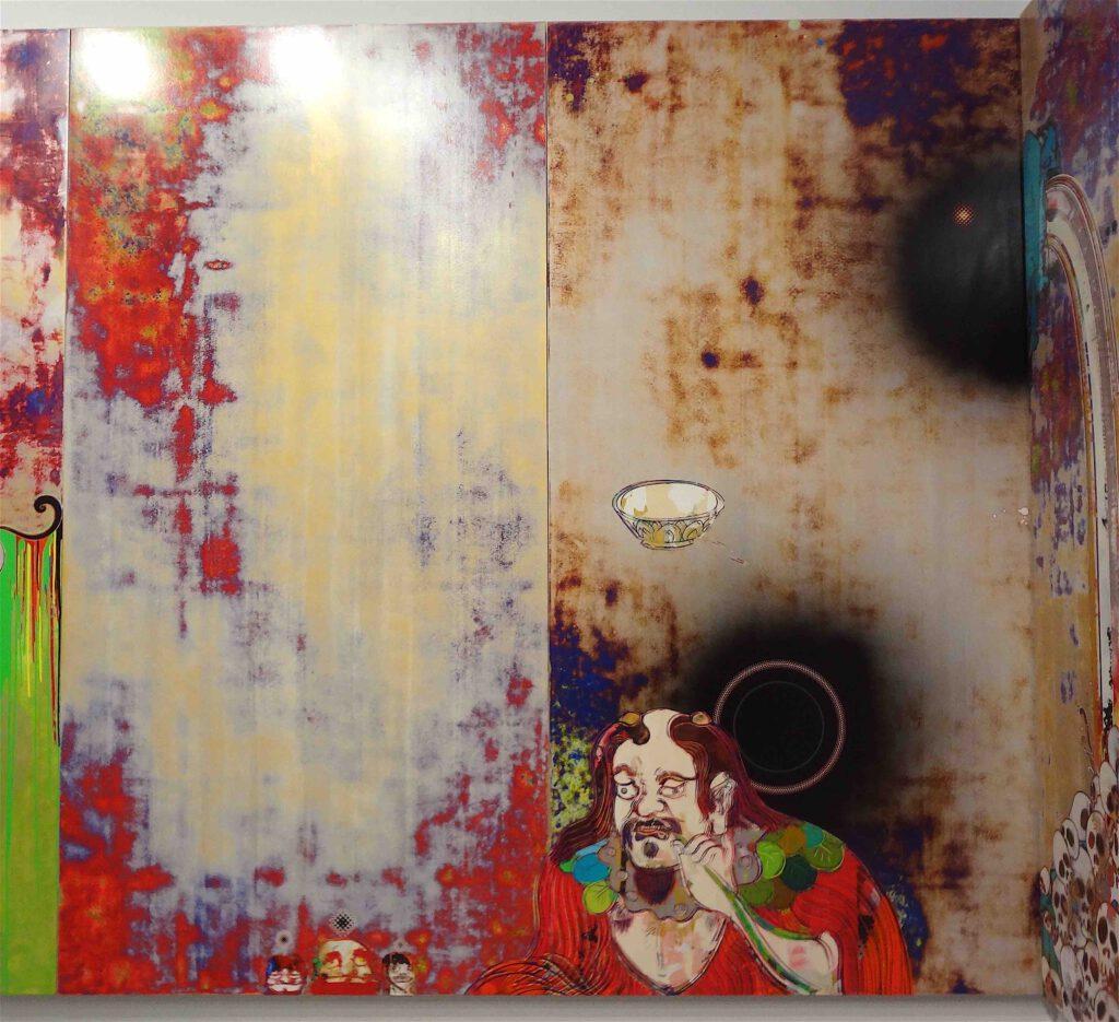 """村上隆 Takashi Murakami """"727-272 The Emergence of God At The Reversal of Fate"""" 2006-2009, detail11"""