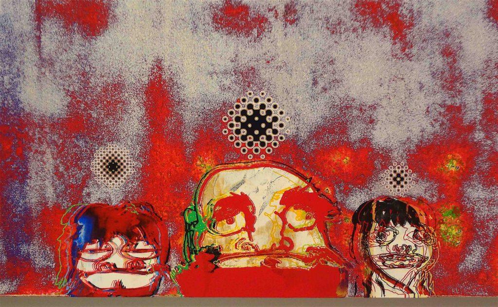 """村上隆 Takashi Murakami """"727-272 The Emergence of God At The Reversal of Fate"""" 2006-2009, detail12"""