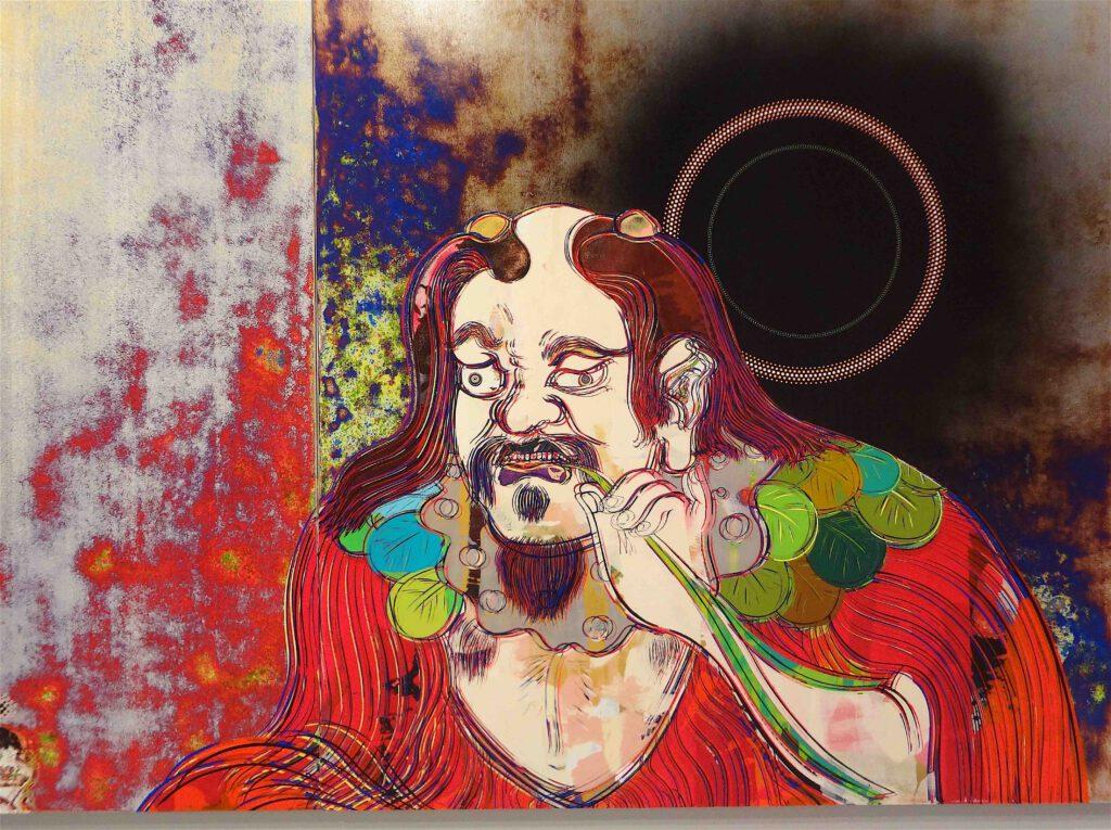 """村上隆 Takashi Murakami """"727-272 The Emergence of God At The Reversal of Fate"""" 2006-2009, detail13"""