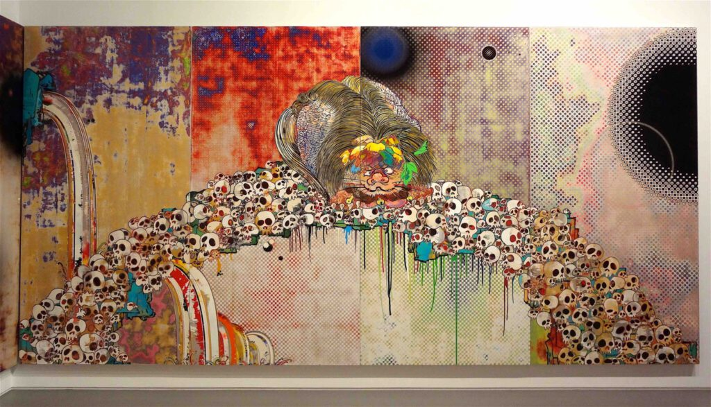 """村上隆 Takashi Murakami """"727-272 The Emergence of God At The Reversal of Fate"""" 2006-2009, detail15"""