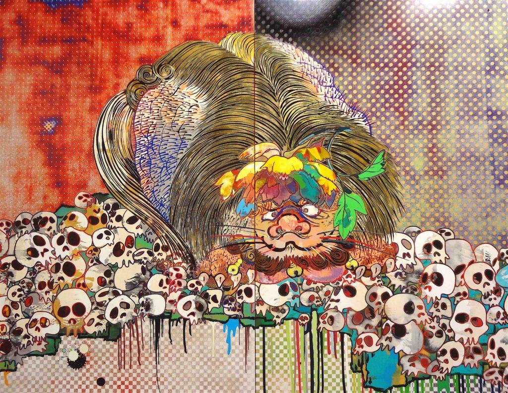 """村上隆 Takashi Murakami """"727-272 The Emergence of God At The Reversal of Fate"""" 2006-2009, detail19"""