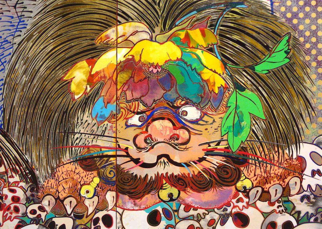 """村上隆 Takashi Murakami """"727-272 The Emergence of God At The Reversal of Fate"""" 2006-2009, detail20"""