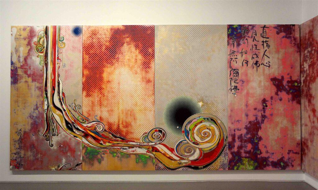 """村上隆 Takashi Murakami """"727-272 The Emergence of God At The Reversal of Fate"""" 2006-2009, detail4"""