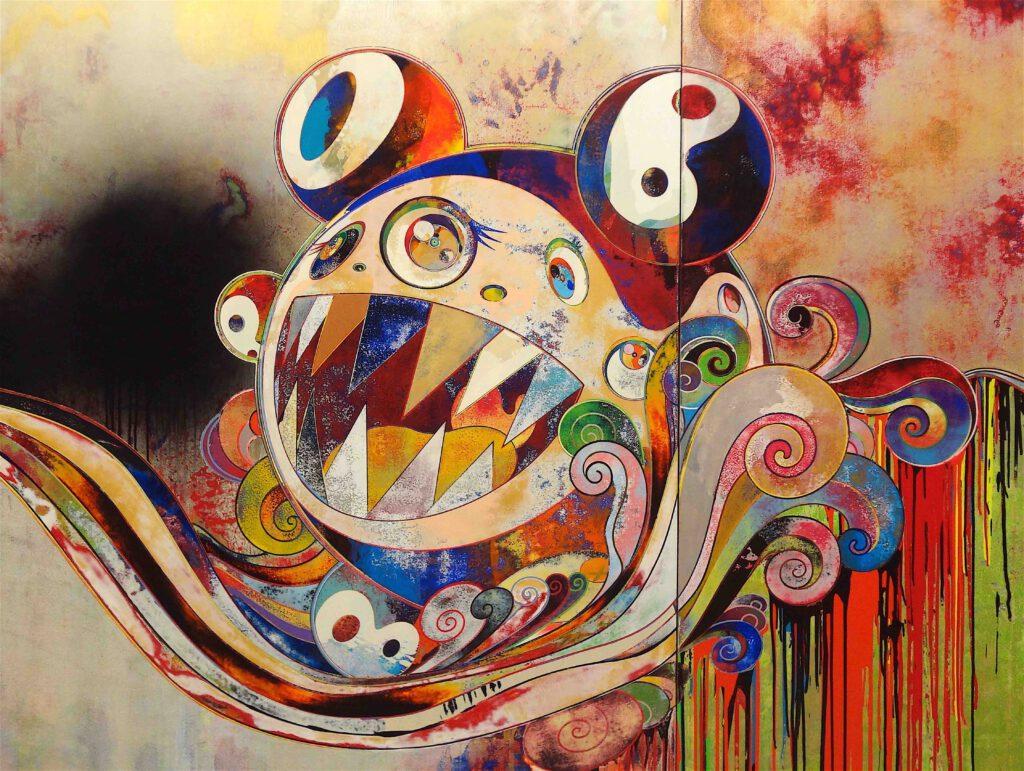 """村上隆 Takashi Murakami """"727-272 The Emergence of God At The Reversal of Fate"""" 2006-2009, detail @ ピノー・コレクション"""