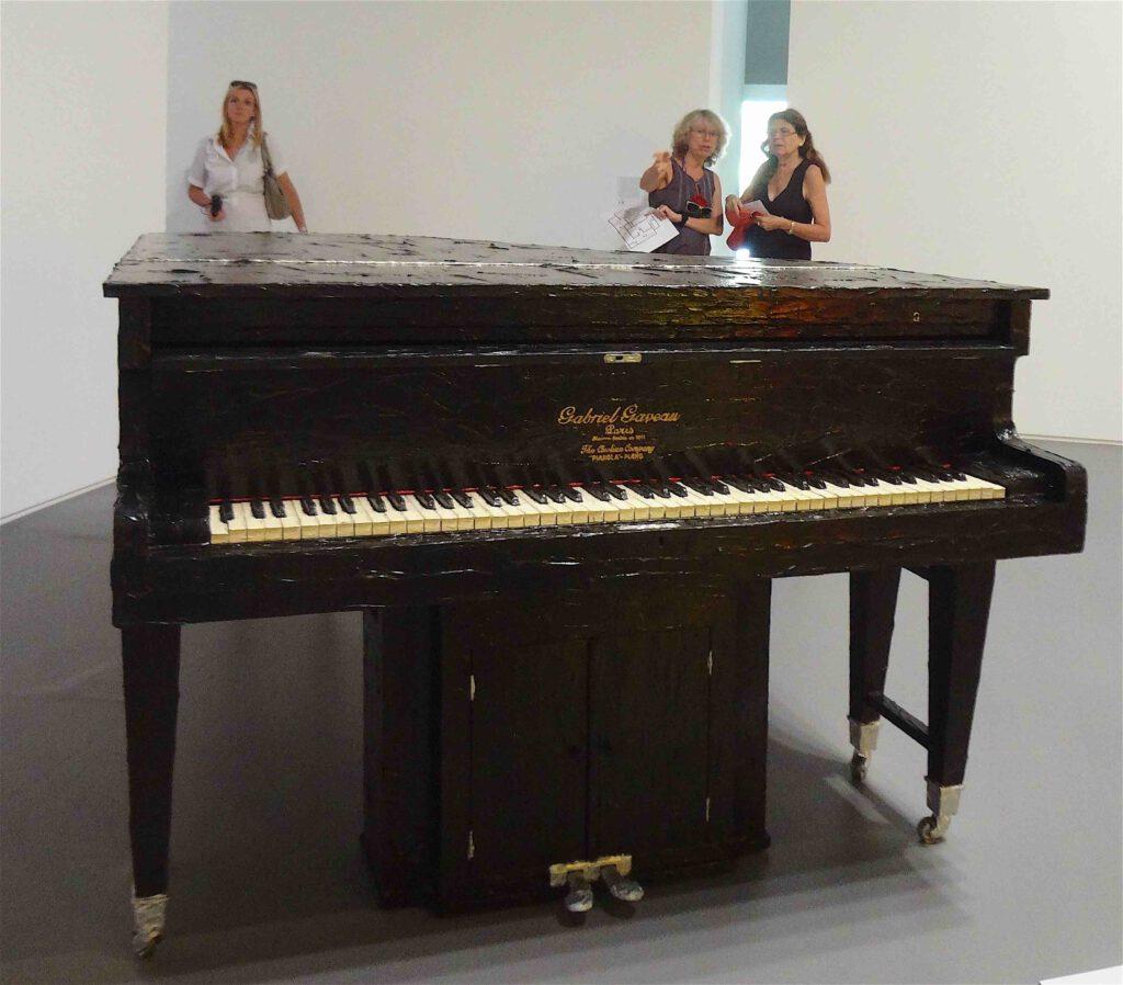 "Bertrand Lavier ""Gabriel Gaveau"" 1981, Grand piano, liquitex acrylic paint (single edition) part"