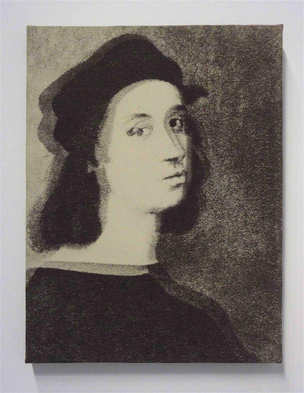 """Giulio Paolini """"L'Invenzione di Ingres"""" 1968, Print on canvas"""