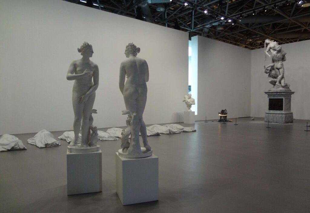 """Giulio Paolini """"Mimesi"""" 1975-1976, Two plaster casts"""