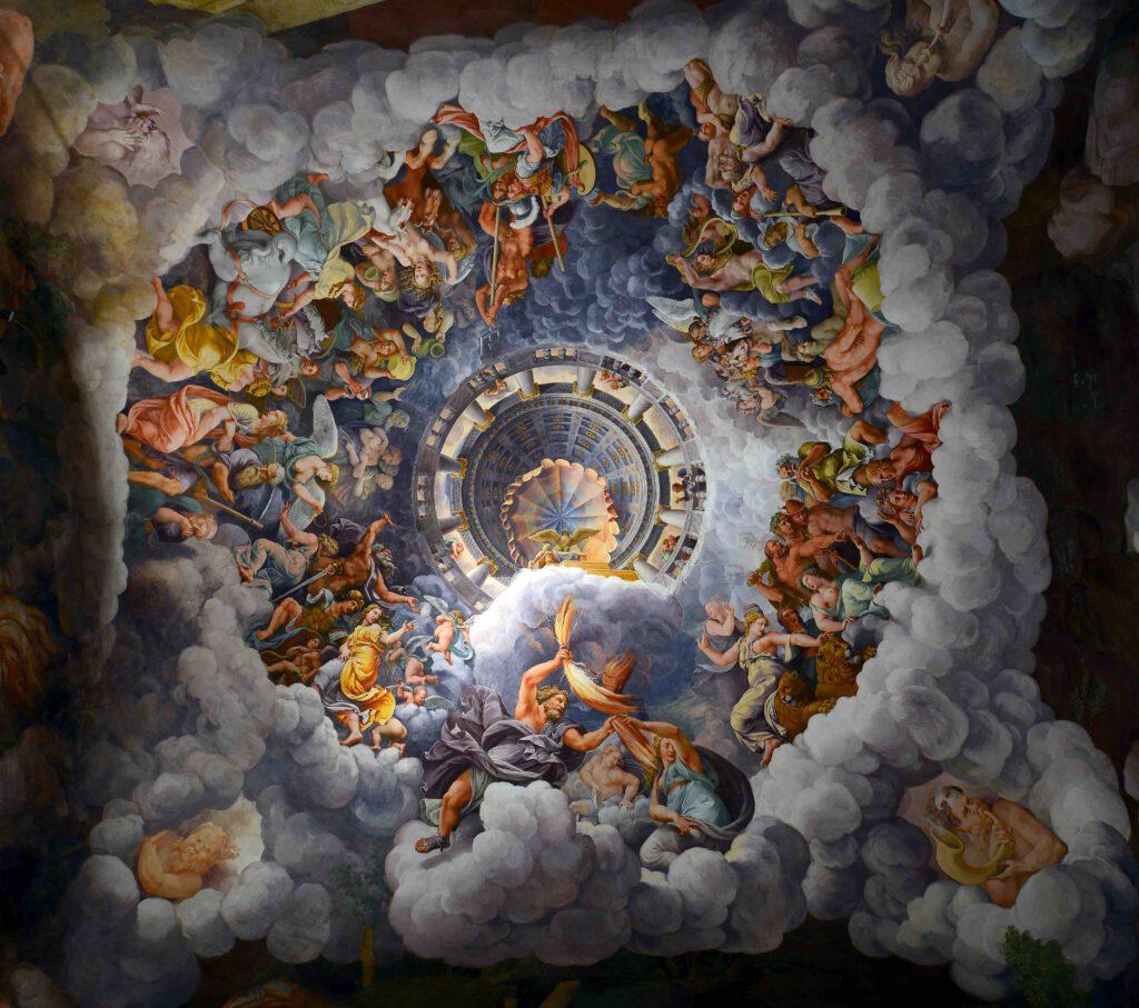 """Giulio Romano """"Fall of the Giants"""" 1532, Mantua, Palazzo del Te, Italy"""