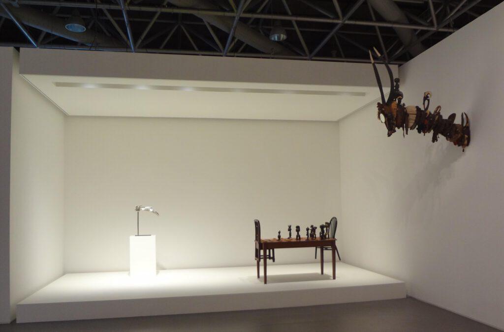 Installation with 3 artists David Hammons, Chen Zhen and Bertrand Lavier