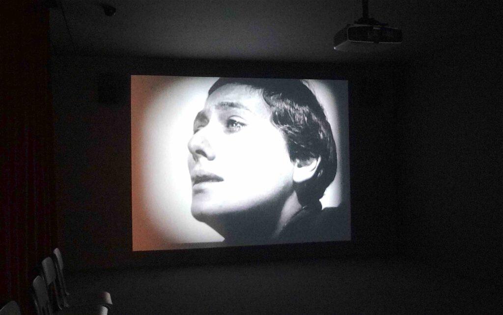 """Javier Téllez """"La Passion de Jeanne d'Arc (Roselle Hospital, Sydney)"""" 2004, installation view1"""