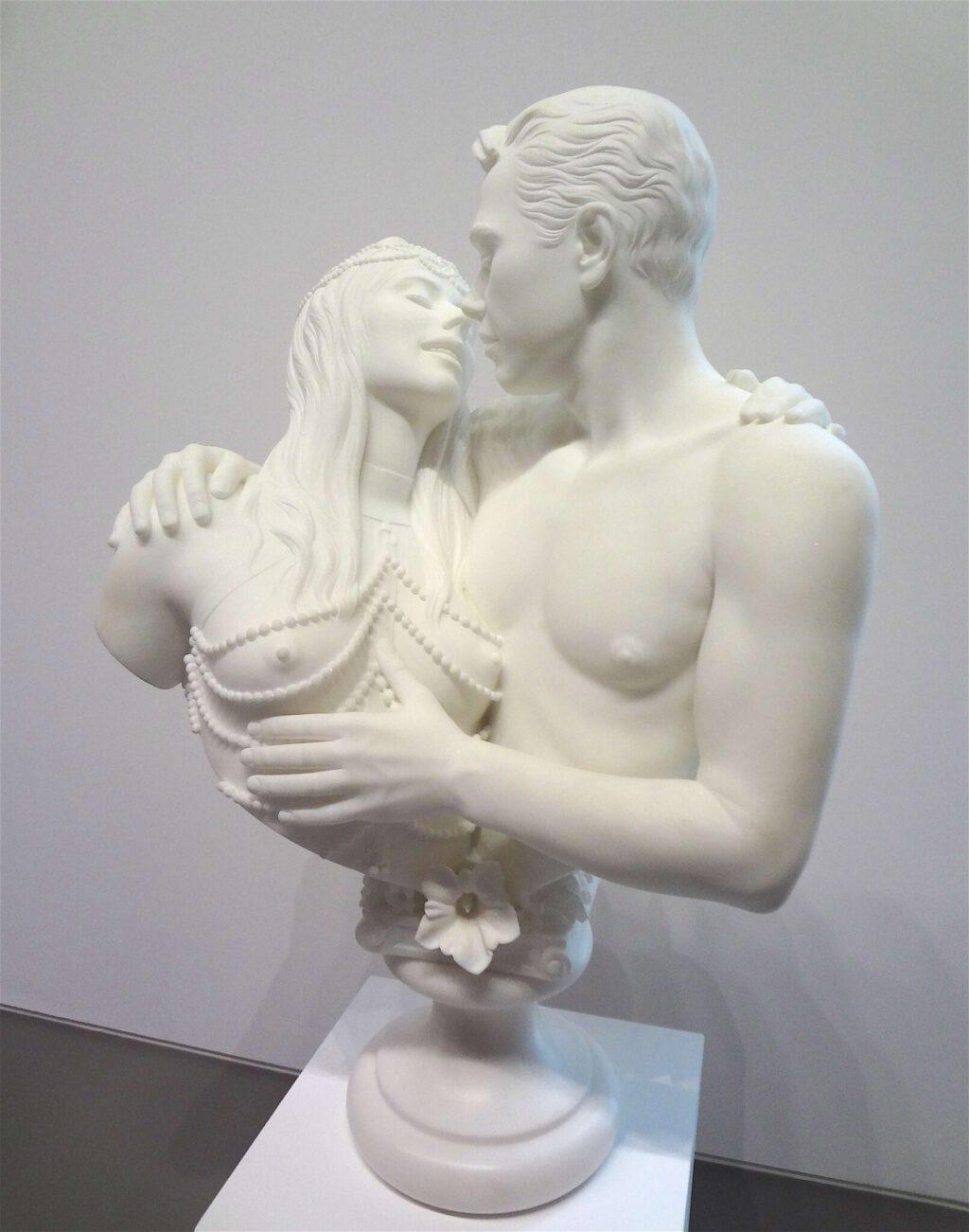 """Jeff Koons """"Bourgeois Bust – Jeff and Ilona"""" 1991, Marble"""