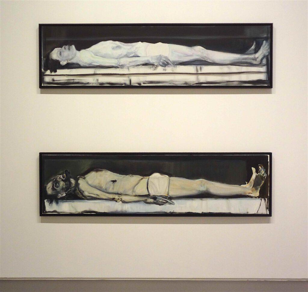 "Marlene Dumas ""Gelijkenis I & II"" 2002, Diptych, oil on canvas"