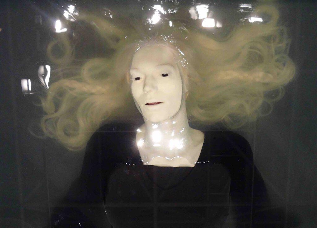 "Paul Fryer ""Ophelia (White)"" 2007, Silicon, wax, glass, detail"