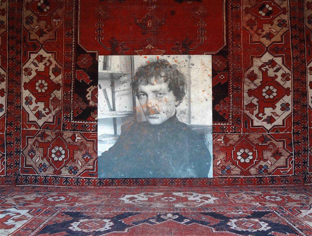 "Rudolf Stingel ""Untitled (Franz West)"" 2011, Oil on canvas @ Palazzo Grassi 2013"