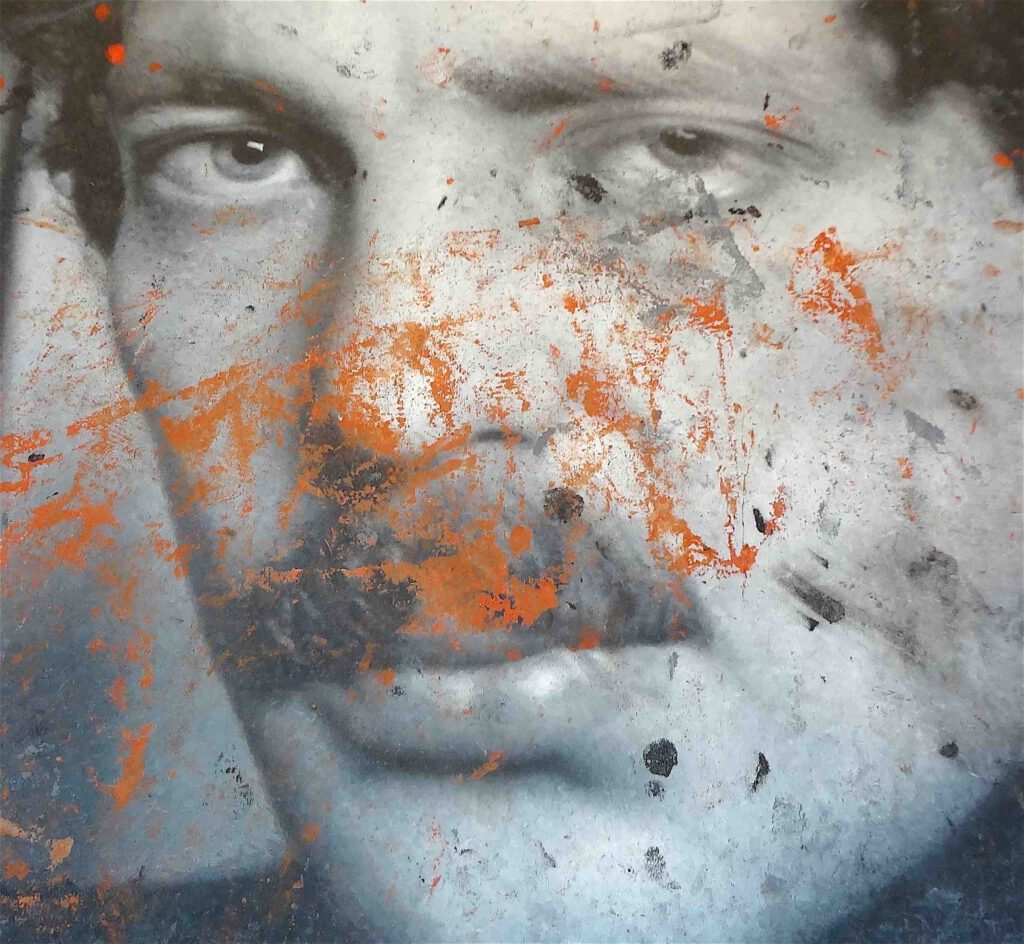 "Rudolf Stingel ""Untitled (Franz West)"" 2011, Oil on canvas @ Palazzo Grassi 2013, detail1"