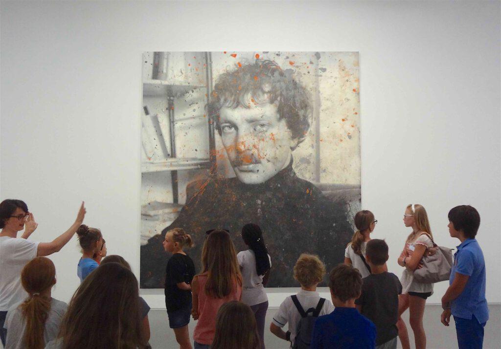 "Rudolf Stingel ""Untitled (Franz West)"" 2011, Oil on canvas, Pinault Collection Monaco"