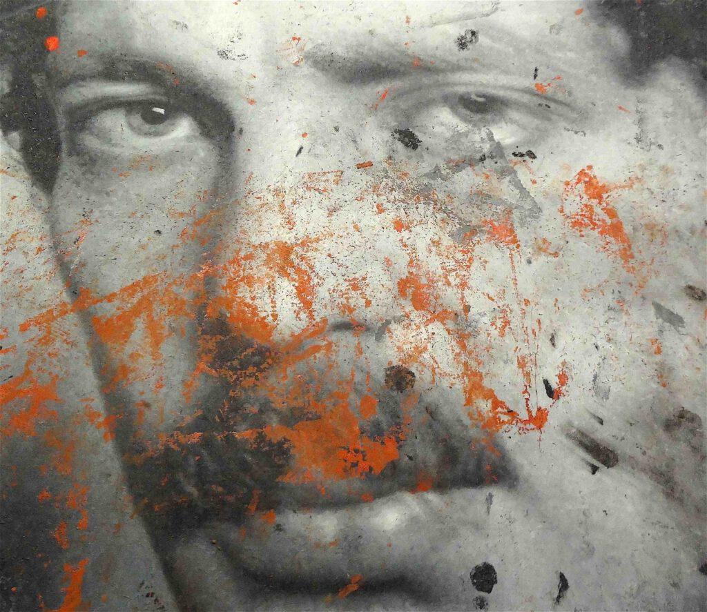 "Rudolf Stingel ""Untitled (Franz West)"" 2011, Oil on canvas, detail1"