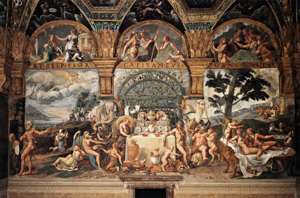 """""""Sala di Amore e Psiche"""" Mantua, Palazzo del Te, Italy"""