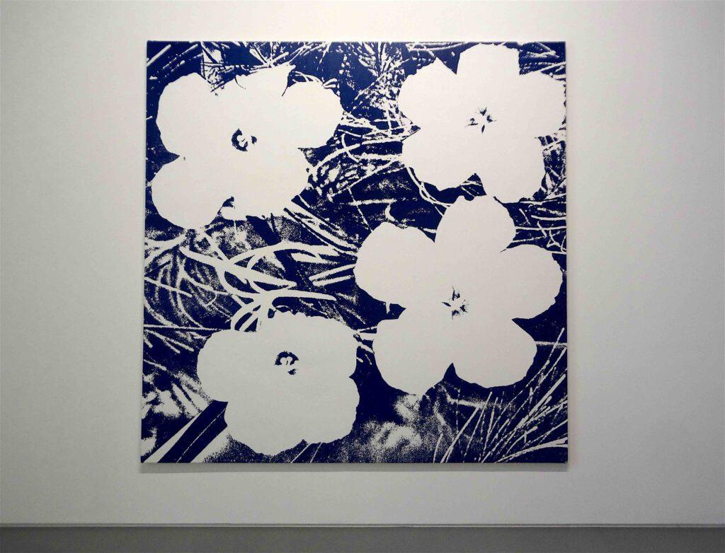 "Sturtevant ""Warhol Flowers"" 1990, Silkscreen print on canvas"