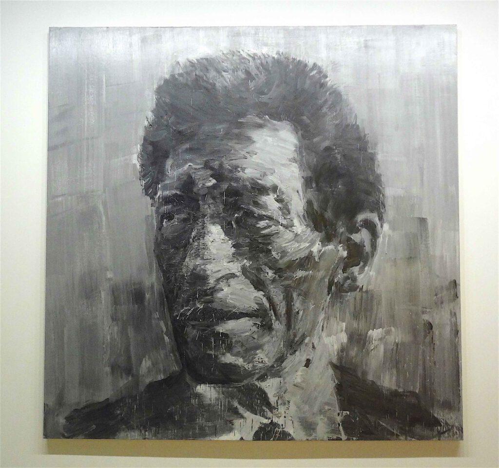 "Yan Pei-Ming ""Portrait de Giacometti"" 2007, Oil on canvas"