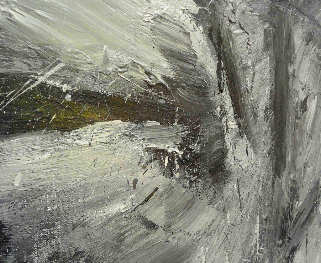 "Yan Pei-Ming ""Portrait de Giacometti"" 2007, Oil on canvas, detail2"