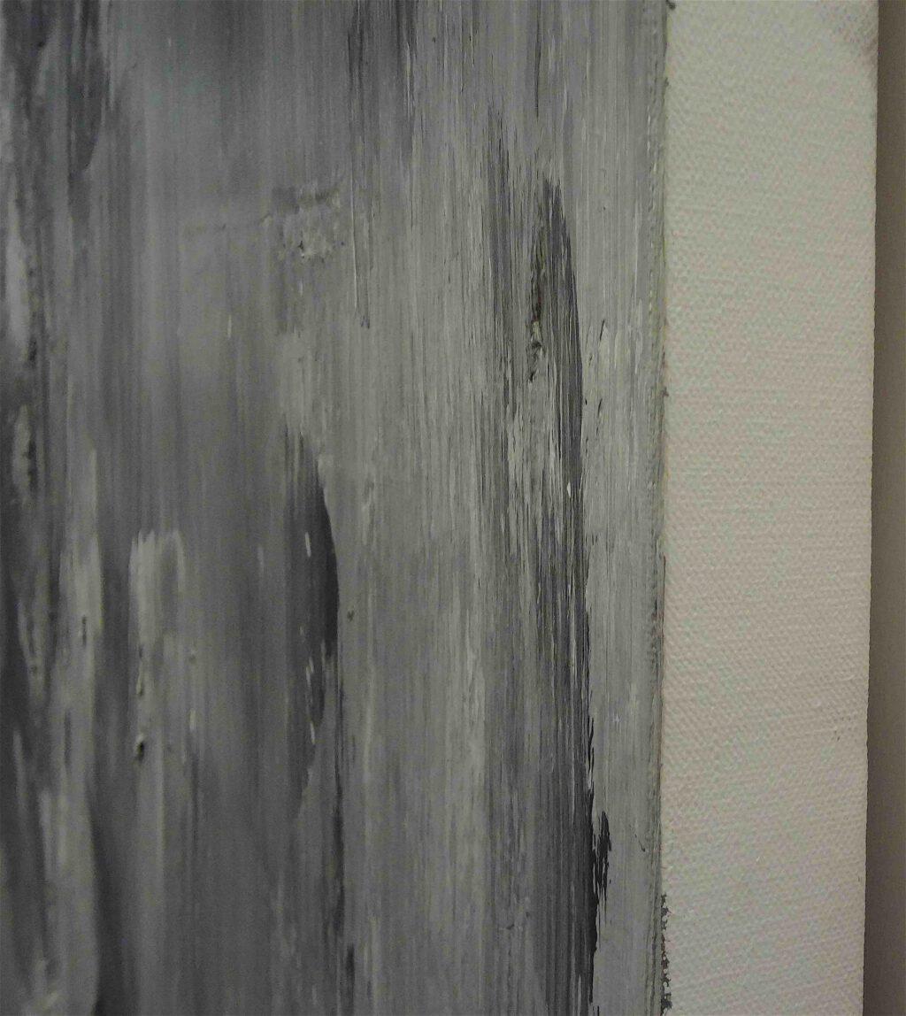 "Yan Pei-Ming ""Portrait de Giacometti"" 2007, Oil on canvas, detail3"
