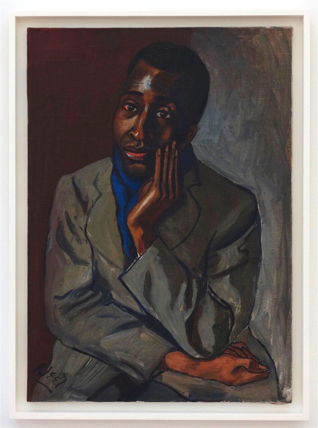 アリス・ニール「ハロルド・クルース」油絵、78.7 x 55.9 センチ、約1950年