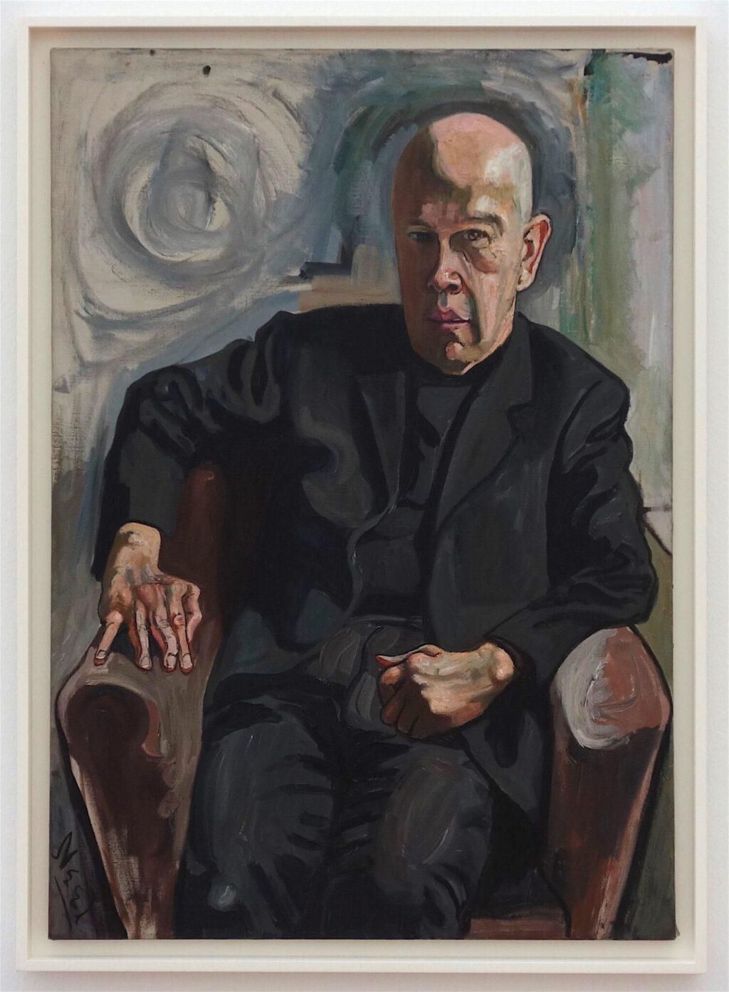 アリス・ニール「マックス・ホワイト」油絵、101.9 x 71.6 センチ、1961年