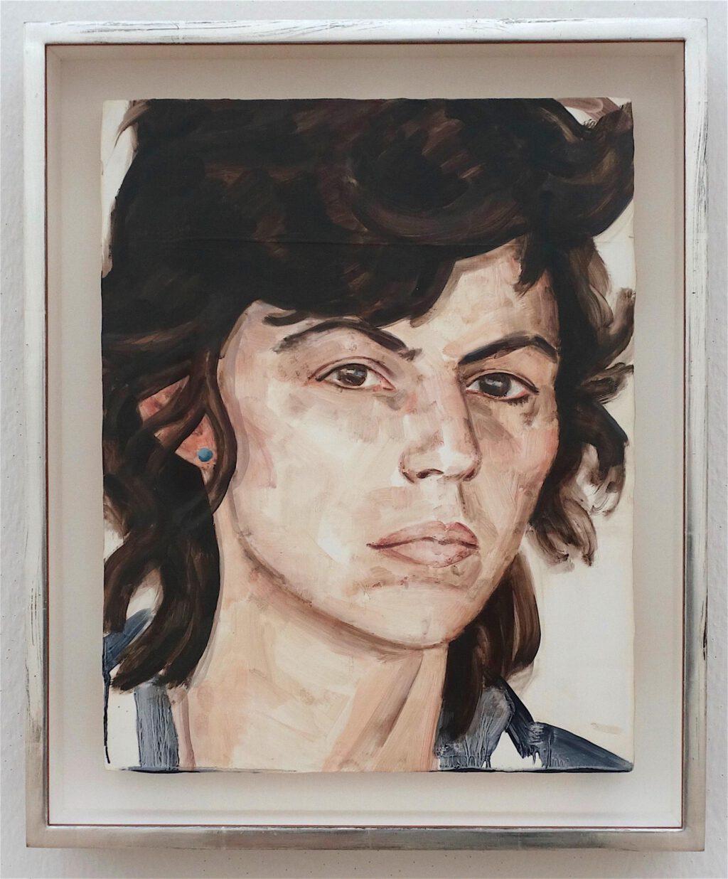 エリザベス・ペイトン「イサ・ゲンツケン1980年」木材に油彩、35.6 x 27.9 センチ、2010年