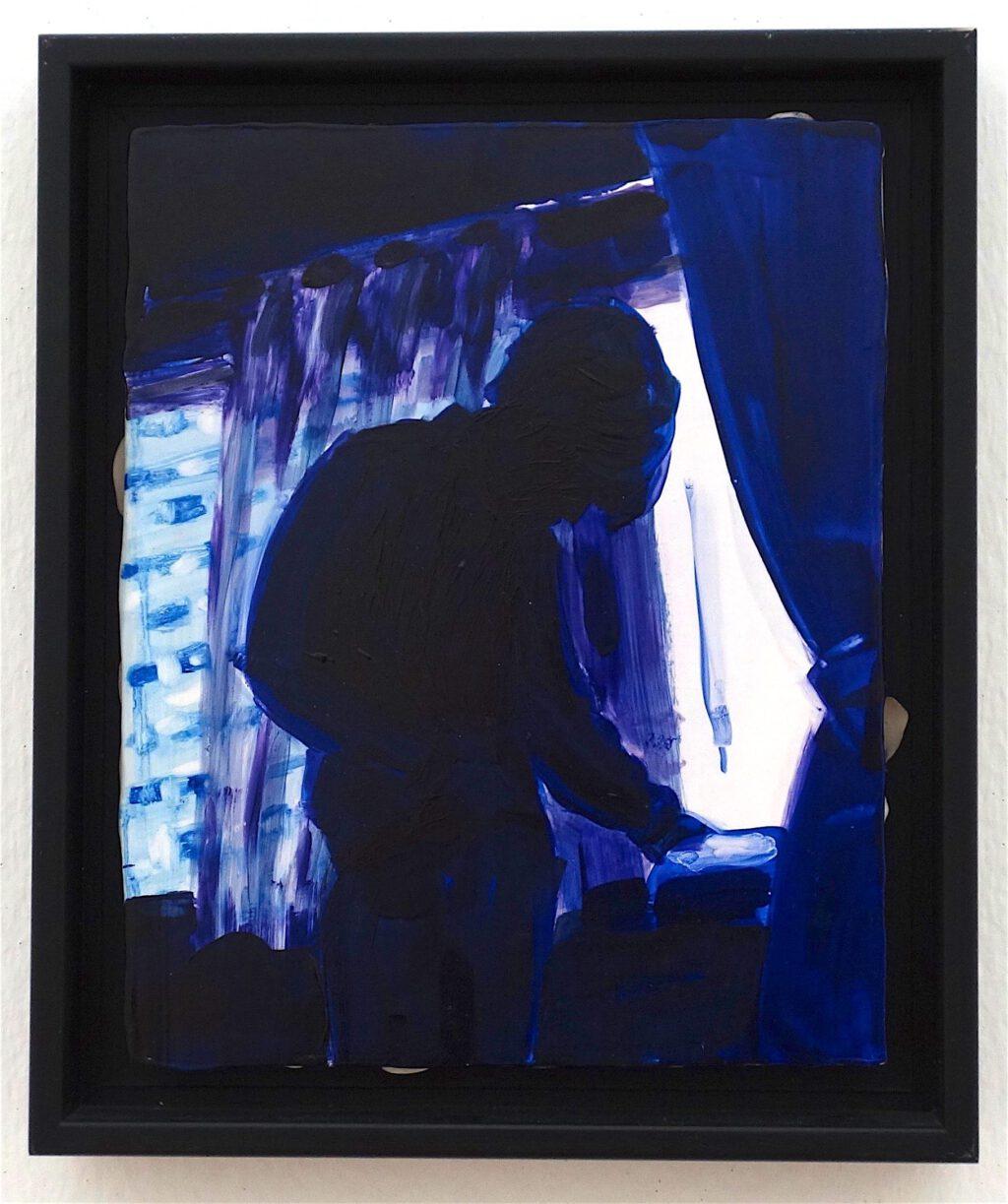 エリザベス・ペイトン「東京 (クレイグ)」木材に油彩と石膏、26 x 20.6 センチ、1997年