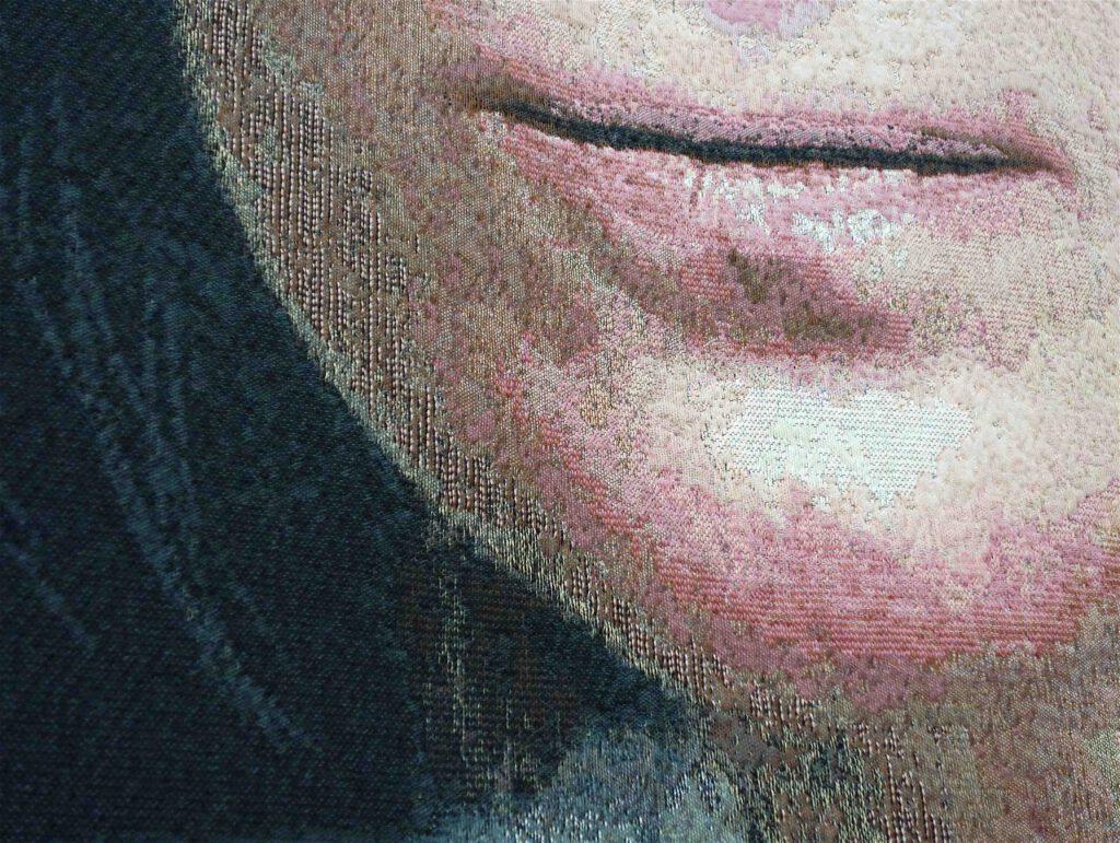 シンディ・シャーマン「無題」綿、ウール、糸、アクリル、メルクリセ、ルレックス、織り込み、290.8 x 226.7 センチ、部分、2019年