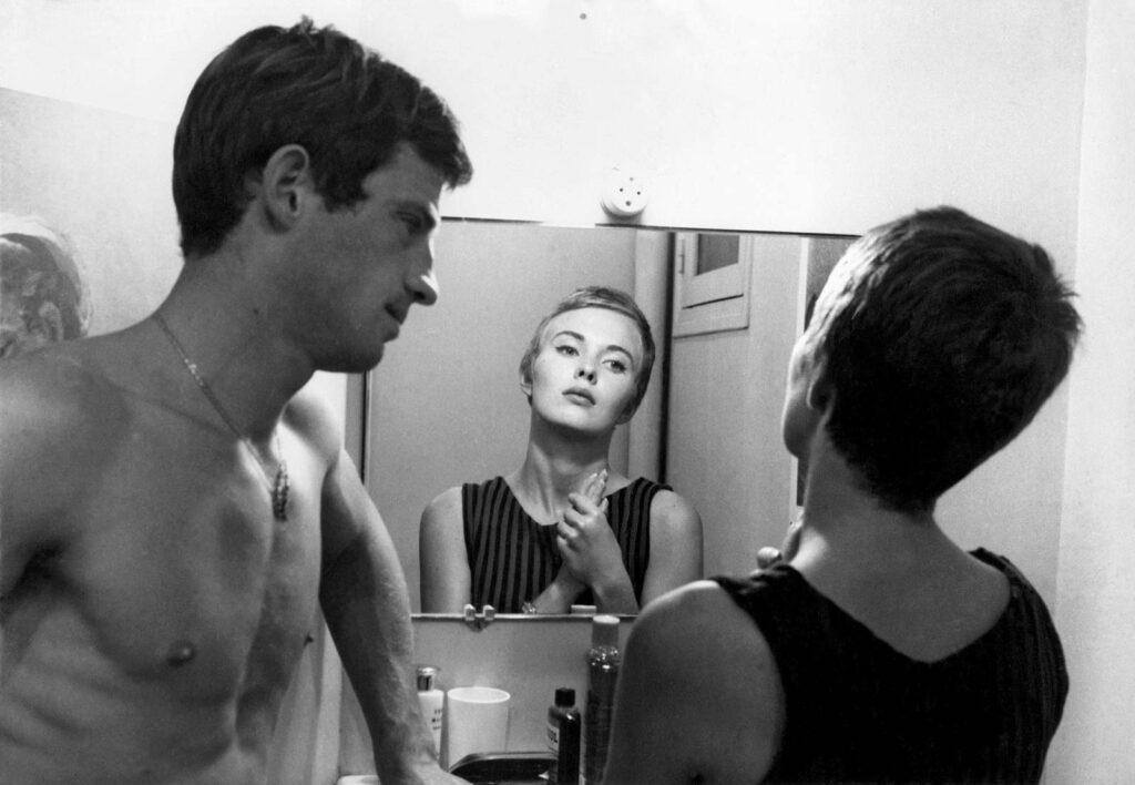 ジャン=ポール・ベルモンドとジーン・セバーグ in 「勝手にしやがれ」 1960年