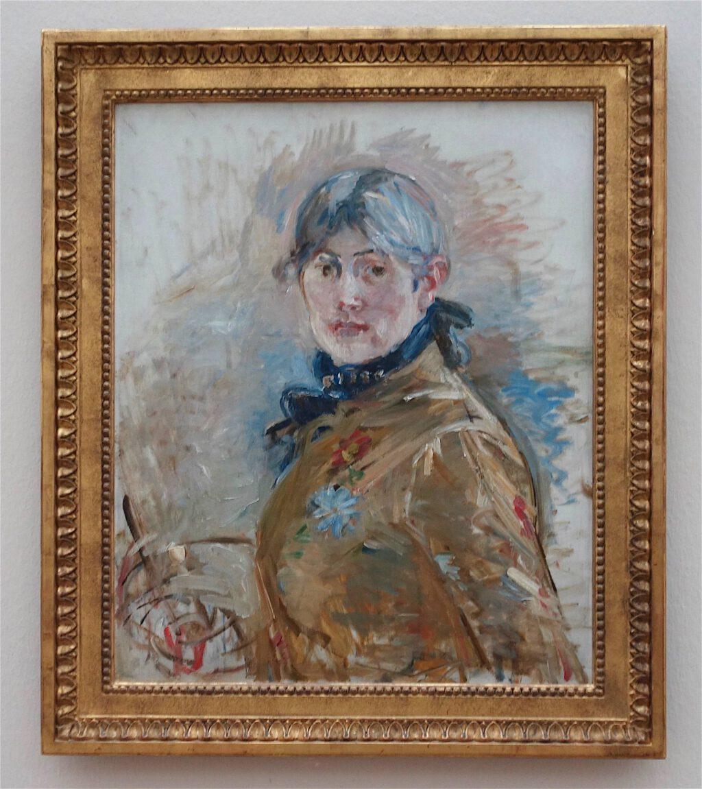 ベルト・モリゾ「自画像」油絵、61 x 50 センチ、1885年 (Musée Marmorean Monet, Paris)