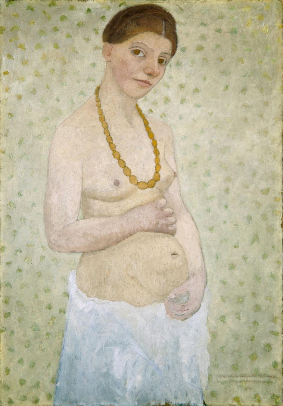 ポーラ・モデルソン=ベッカー「結婚6周年記念の自画像」1906年