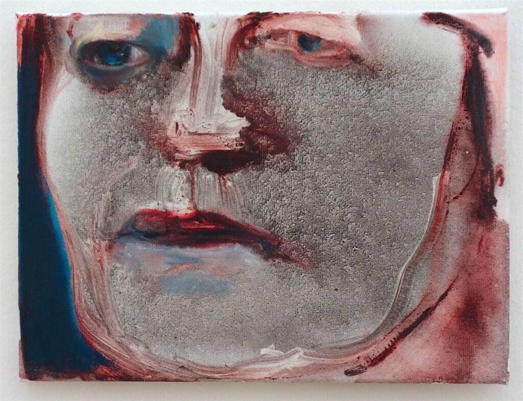 マレーネ・デュマ「シャーロット・ランプリング」油絵、30 x 40 センチ、2018年