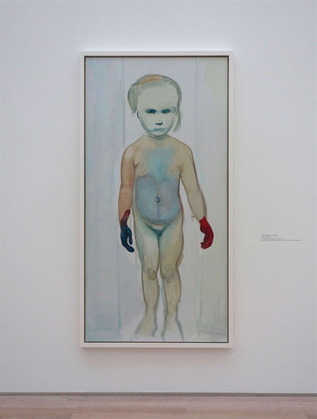 マレーネ・デュマ「画家」油絵、200.7 x 99.7 センチ、1994年