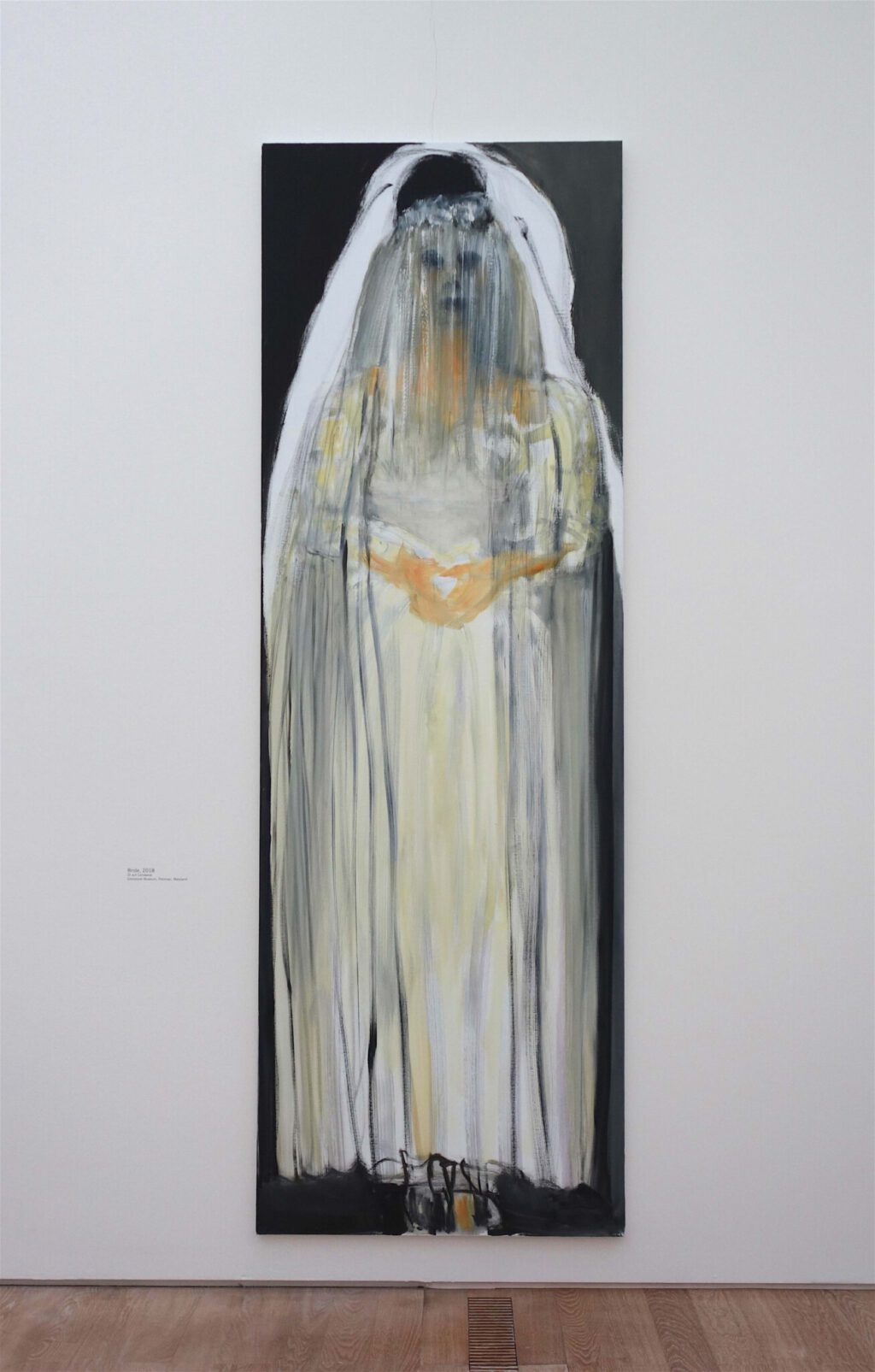 マレーネ・デュマ「花嫁」油絵、300 x 100 センチ、2018年