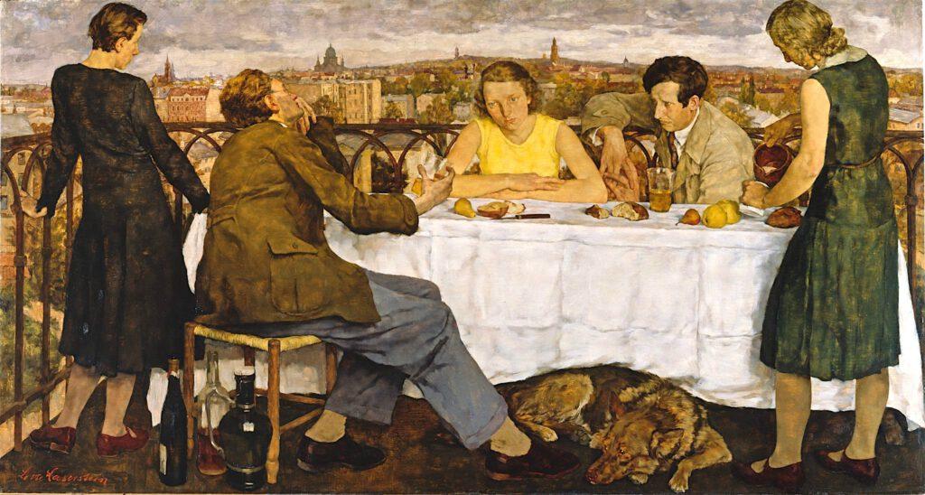 ロッテ・ラーゼルシュタイン「ポツダムの夕暮れ」キャンバスに油彩、111 x 206 センチ、1930年 (Neue Nationalgalerie)