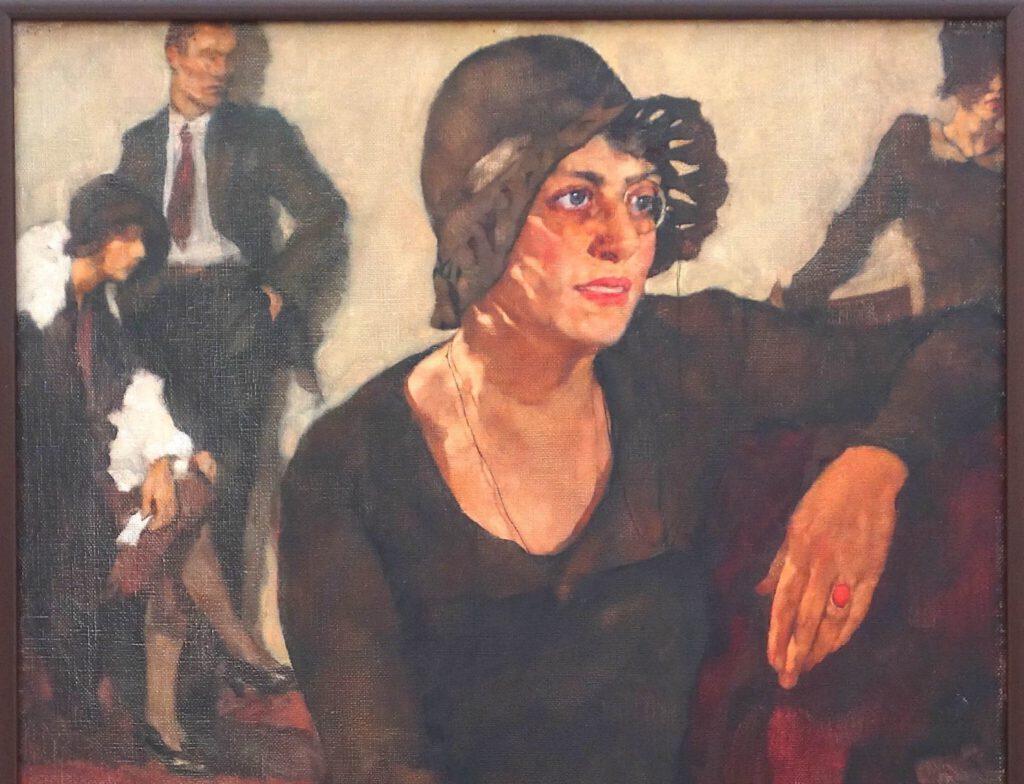 ロッテ・ラーゼルシュタイン「ポリ・ティーク」キャンバスに油彩、90.5 x 80.5 センチ、部分、1929年