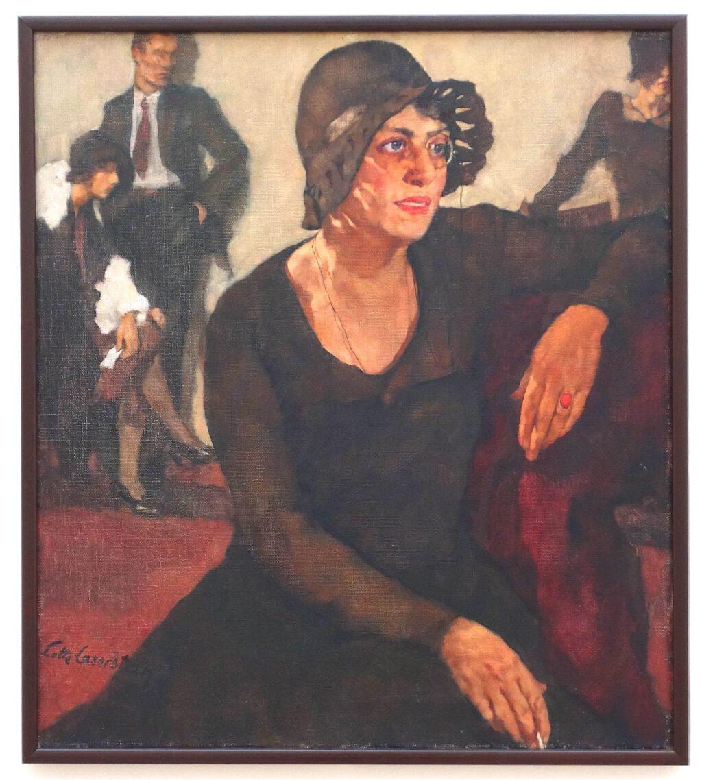 ロッテ・ラーゼルシュタイン「ポリ・ティーク」キャンバスに油彩、90.5 x 80.5 センチ、1929年
