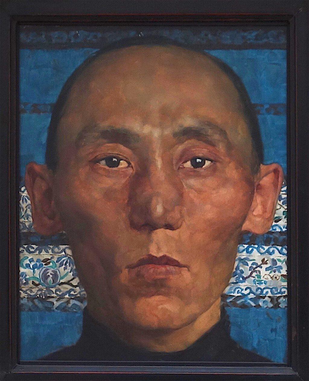 ロッテ・ラーゼルシュタイン「モンゴル人」木材に油彩、27.1 x 21.8 センチ、約1927年