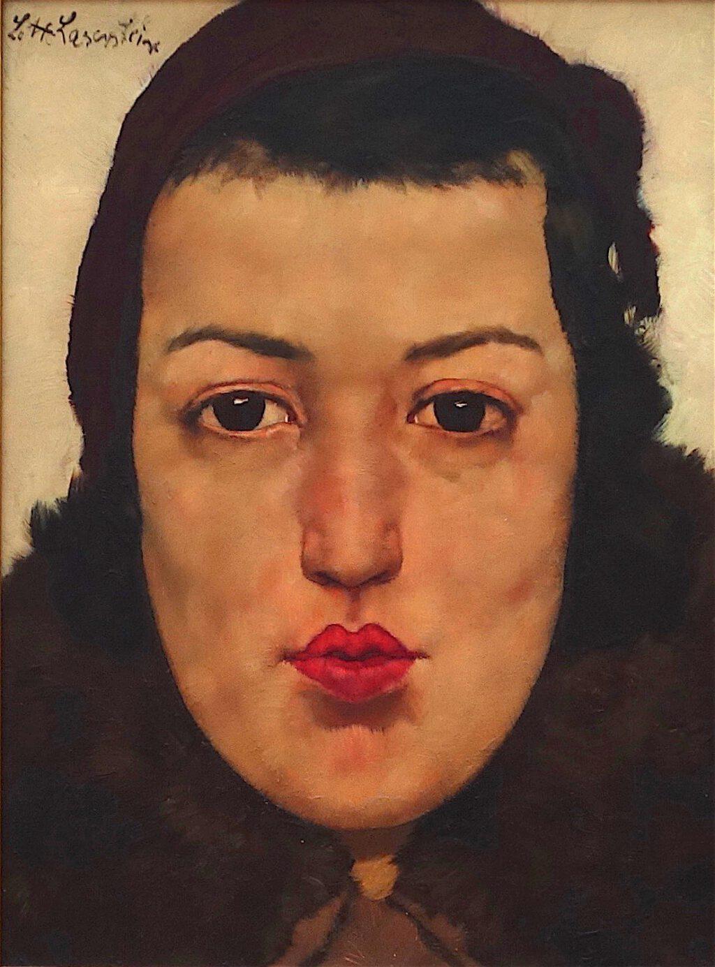 ロッテ・ラーゼルシュタイン「ロシア人女子」木材に油彩、32 x 23 センチ、約1928年 (Städel Museum)