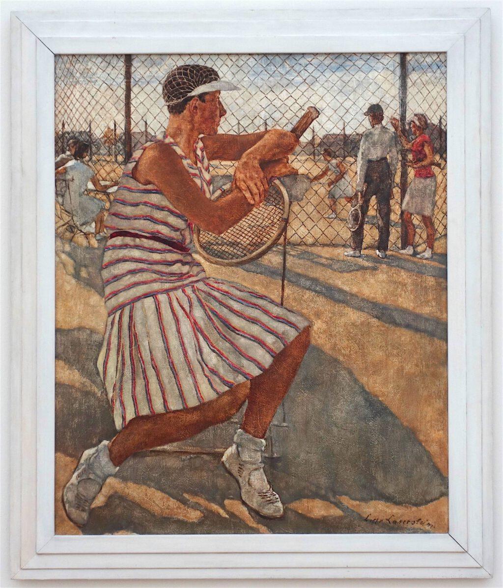 ロッテ・ラーゼルシュタイン「女性のテニスプレイヤー」キャンバスに油彩、110 x 95.5 センチ、1929年