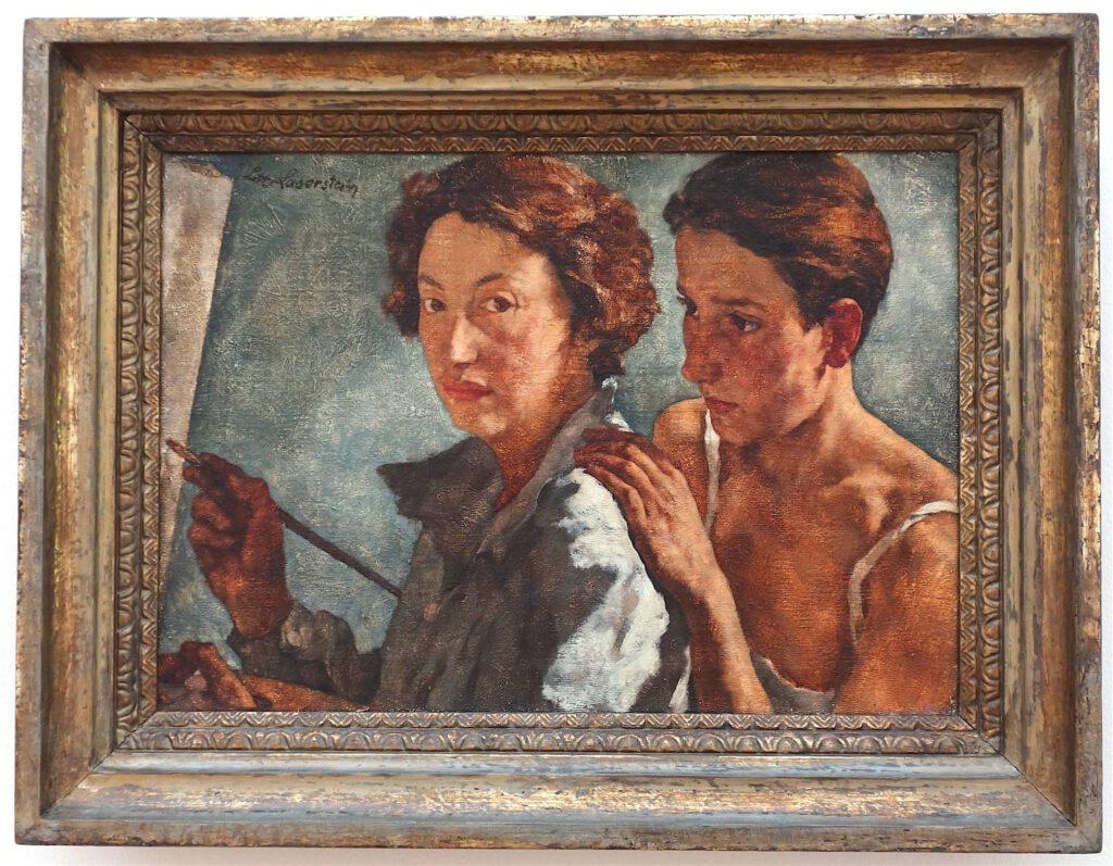 ロッテ・ラーゼルシュタイン「私と私のモデル」キャンバスに油彩、49.5 x 69.5 センチ、1929-1930年